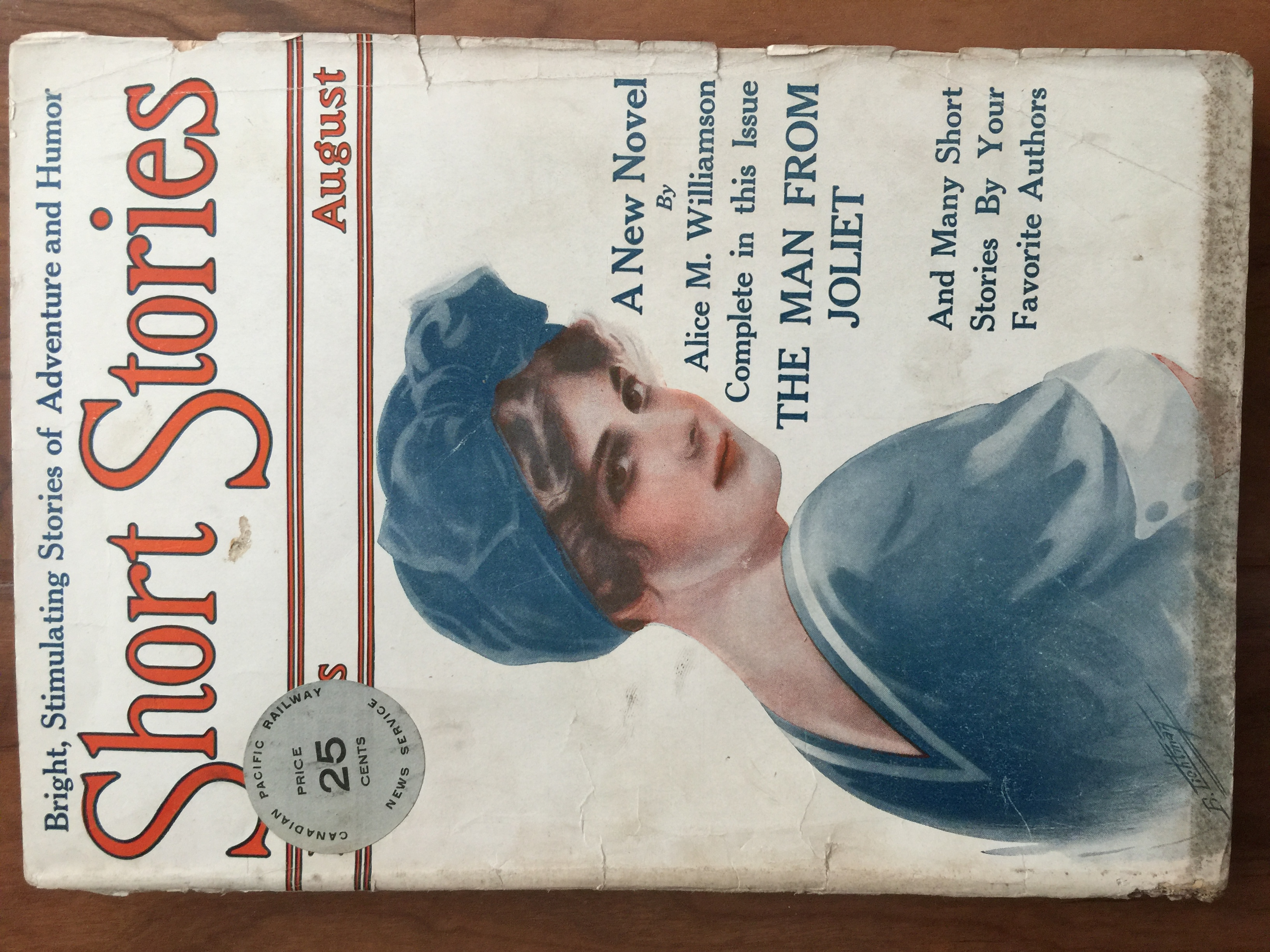 Short Stories August 1915 issue, continuing the transformation into full fledged pulp under Harry S. Maule's editorship